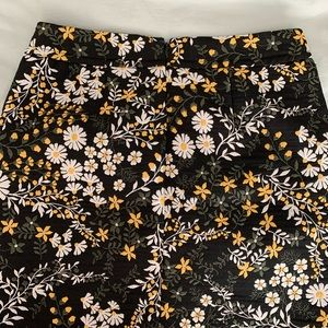 Loft Flowery Shift Skirt